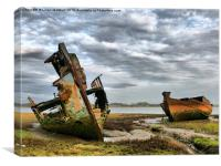 Wrecks at Fleetwood Marsh., Canvas Print