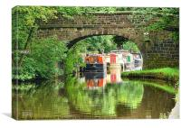 Bridge No 15 on the Rochdale Canal., Canvas Print