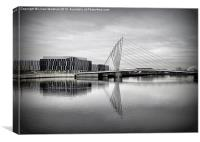 Media City Bridge., Canvas Print