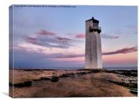 Southerness Lighthouse., Canvas Print