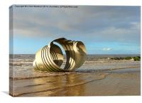 Marys Shell Cleveleys., Canvas Print