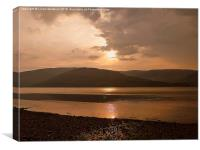 Sunset over Loch Linnhe. , Canvas Print