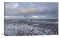 Stormy sky over the North Sea ., Canvas Print