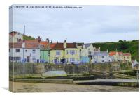 Cod and Lobster Staithes., Canvas Print