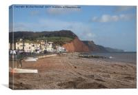 Salcombe Hill, Sidmouth. , Canvas Print