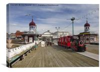 Road Train on North Pier, Canvas Print