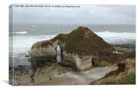 High stacks  Flamborough., Canvas Print
