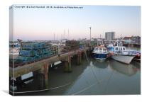 Sunrise over Bridlington Harbour., Canvas Print