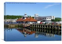 Ferry terminal Rothesay., Canvas Print