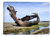 Fleetwood decommissioned Trawler. , Canvas Print