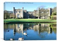 Reflections of Towneley Hall, Canvas Print