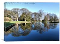 Reflections in Towneley Park. , Canvas Print