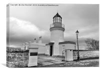 A grey day over Cromarty Lighthouse., Canvas Print