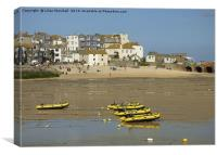 St Ives Harbour Beach. , Canvas Print