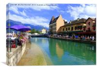 Annecy France. , Canvas Print