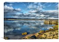 Kent Viaduct and Arnside Pier., Canvas Print