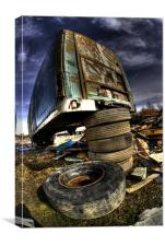 The Trailer graveyard, Canvas Print