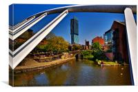 View from the bridge, Canvas Print