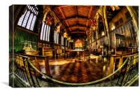 Manchester Cathedral Curves, Canvas Print