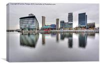 Media City Salford Quays, Canvas Print