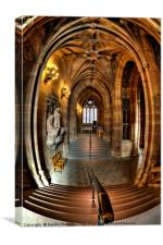 John Rylands Library Manchester, Canvas Print