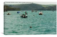 SALCOMBE BOATS, Canvas Print