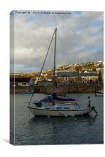MOORED AT HOME, Canvas Print
