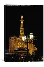 Paris in Vegas., Canvas Print