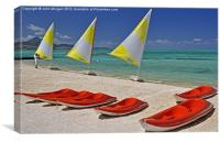 All in a row., Canvas Print