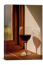Red Wine shadow., Canvas Print