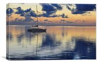 Calm waters., Canvas Print
