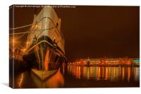 Moored up., Canvas Print