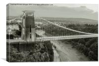 The Suspension Bridge., Canvas Print