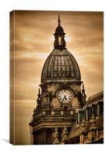Leeds Town Hall, Canvas Print