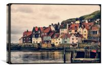 Retro Whitby, Canvas Print