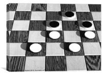 Black and White Chess, Canvas Print