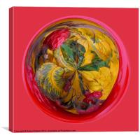 Spherical Autumn in the sphere, Canvas Print
