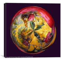 Spherical Paperweight Dog Rose, Canvas Print