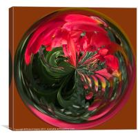 Spherical Paperweight Flowers and colours, Canvas Print