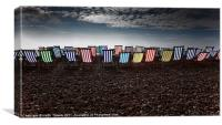 Deckchairs - Beer, Devon Canvases & Prints, Canvas Print
