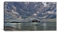 Clouds over the West Pier, Canvas Print