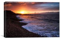 Ringstead sunrise , Canvas Print