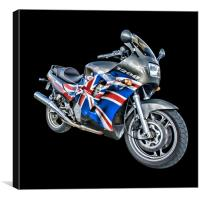 Triumph Trophy 1200 Motorcycle, Canvas Print
