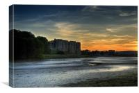 Carew Castle Pembrokeshire at Sunset, Canvas Print