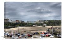 Tenby North Beach Harbour View, Canvas Print