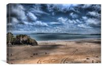 Caldey Island from Tenby, Canvas Print