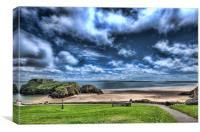 Caldey Island from Tenby 2, Canvas Print