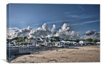 Saundersfoot Town, Canvas Print
