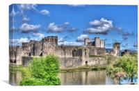 Caerphilly Castle Painterly, Canvas Print