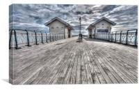 Penarth Pier Painterly, Canvas Print